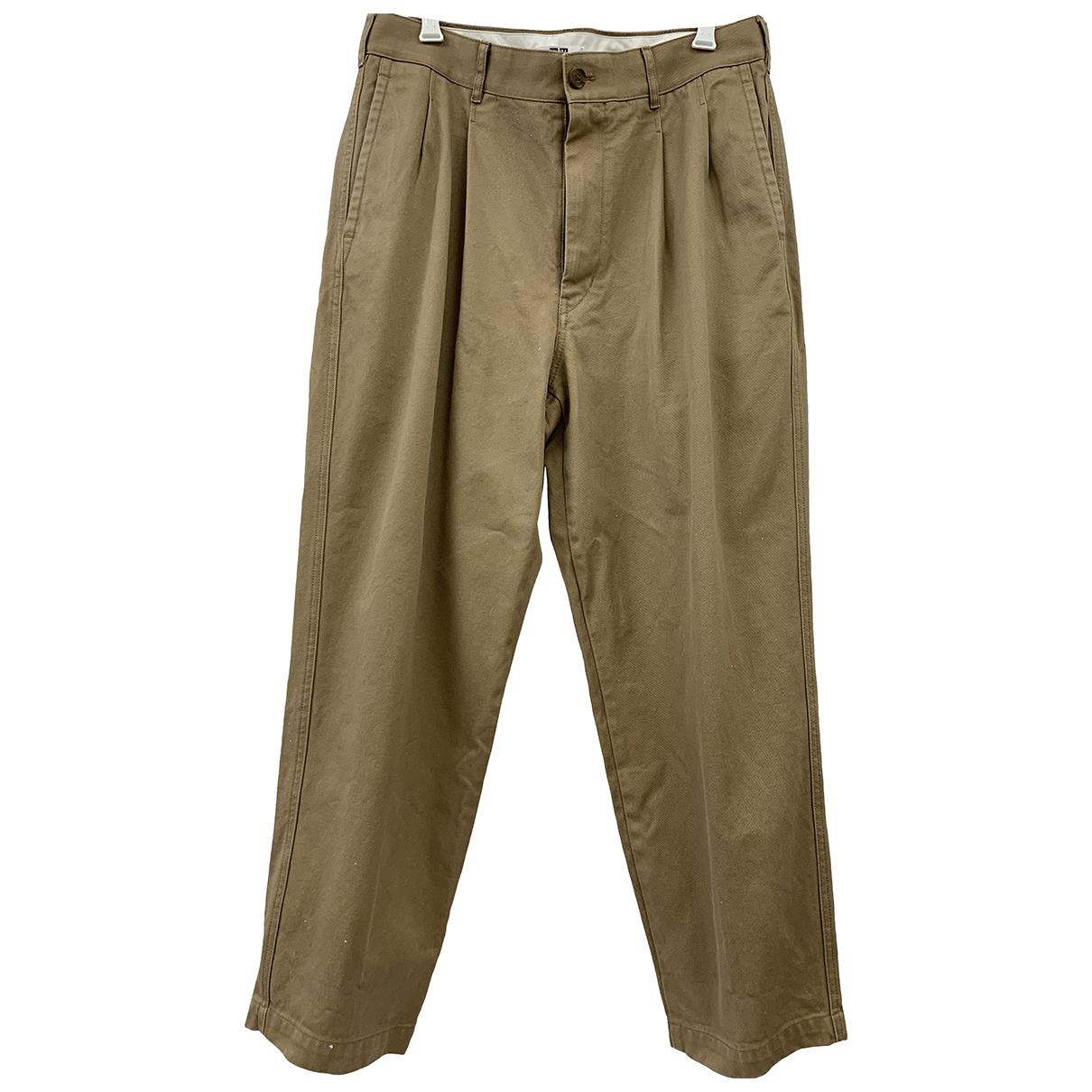 Uniqlo \N Beige Cotton Trousers for Men L International