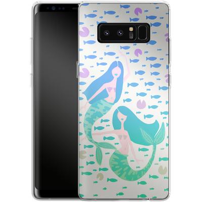 Samsung Galaxy Note 8 Silikon Handyhuelle - Mermaids Turquoise von Cat Coquillette
