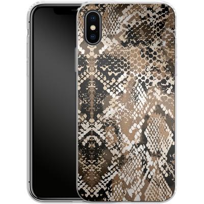 Apple iPhone X Silikon Handyhuelle - Snakeskin von caseable Designs