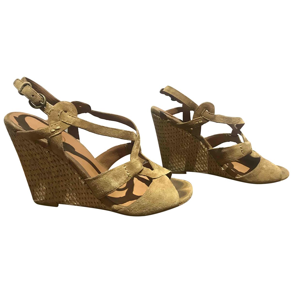 Ash \N Brown Suede Sandals for Women 37 EU