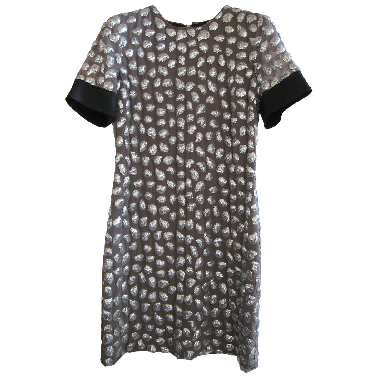 Diane Von Furstenberg \N Kleid in  Grau Polyester