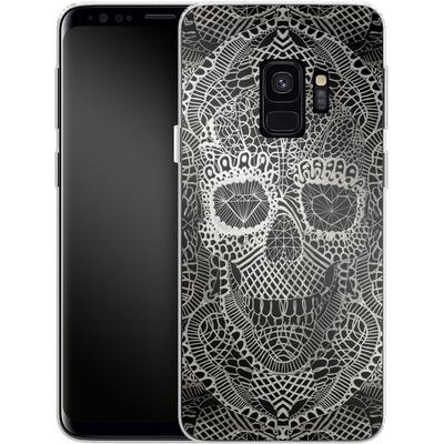 Samsung Galaxy S9 Silikon Handyhuelle - Lace Skull von Ali Gulec