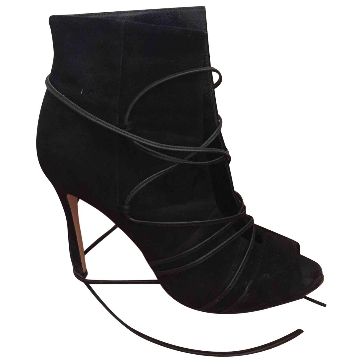 Gianvito Rossi \N Black Suede Ankle boots for Women 37 EU