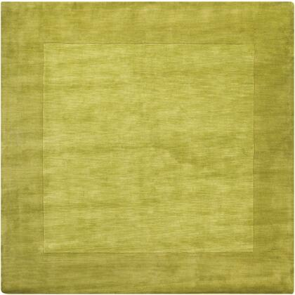 Mystique M-346 8' Square Modern Rug in Lime