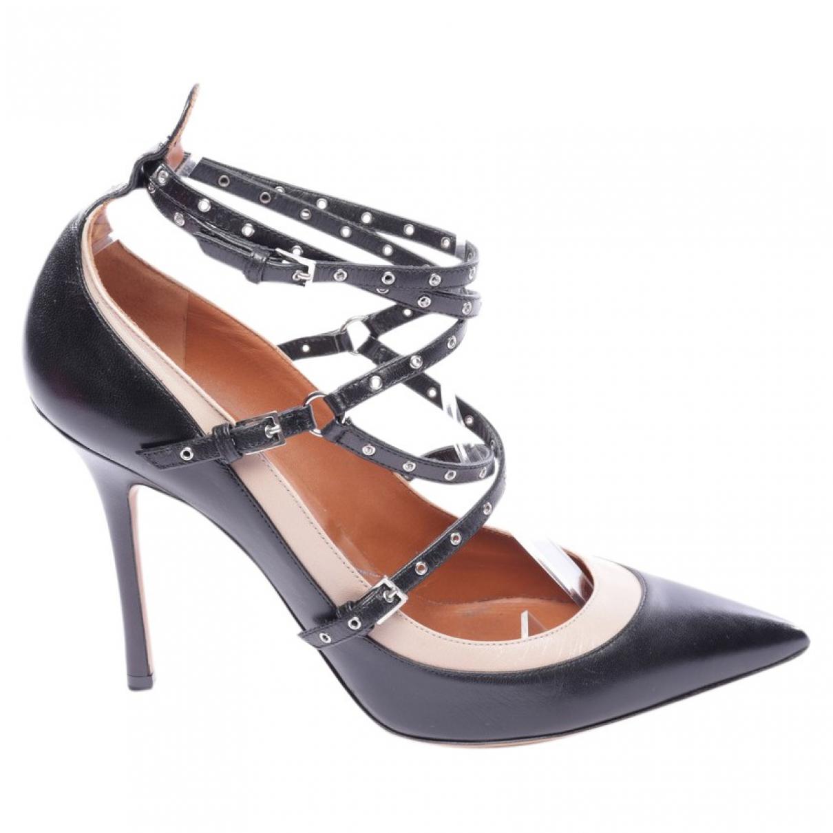 Valentino Garavani N Black Leather Heels for Women 40.5 EU