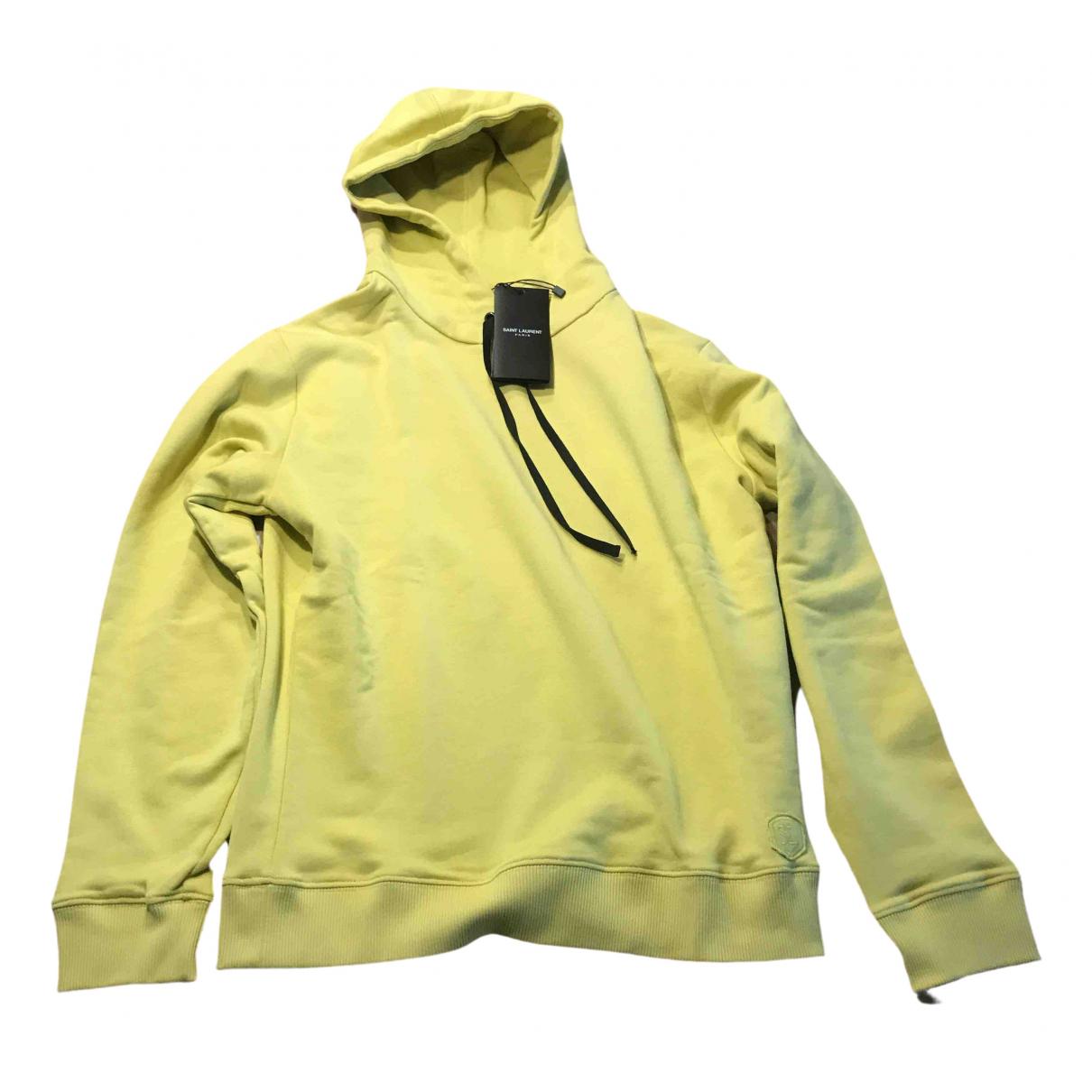 Saint Laurent \N Green Cotton Knitwear & Sweatshirts for Men S International