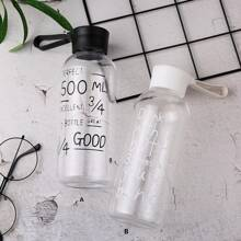 1pc Slogan Graphic Water Bottle