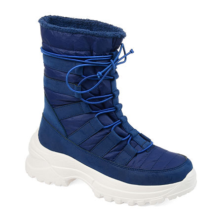 Journee Collection Womens Icey Winter Boots, 8 Medium, Blue