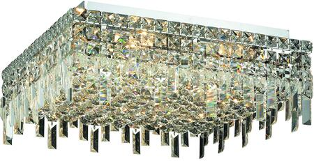 V2033F20C/SS 2033 Maxime Collection Flush Mount L:20In W:20In H:7In Lt:12 Chrome Finish (Swarovski   Elements