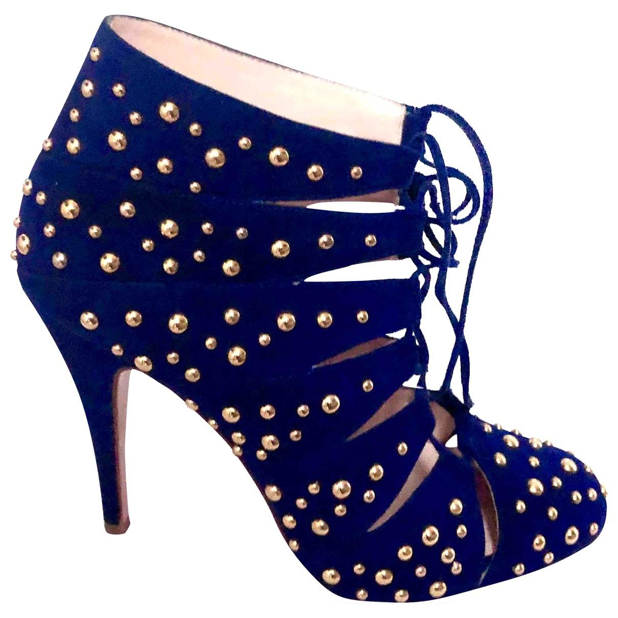 Bionda Castana - Boots   pour femme en suede - marine