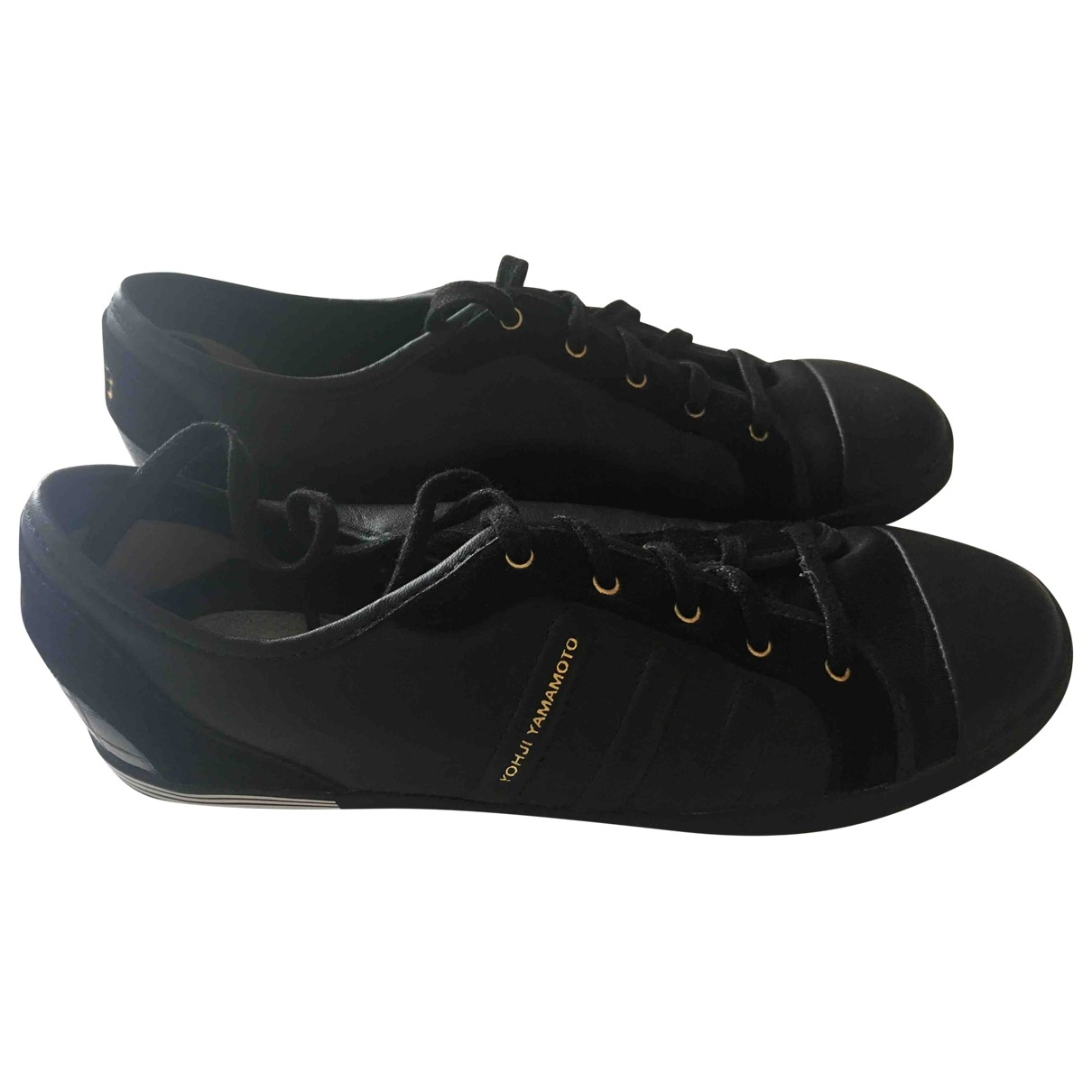 Y-3 \N Black Leather Trainers for Women 4 UK
