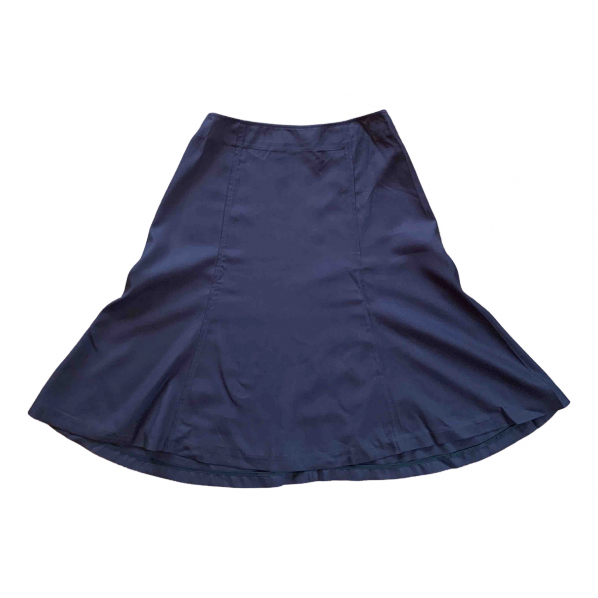 Prada \N Navy Silk skirt for Women 40 IT