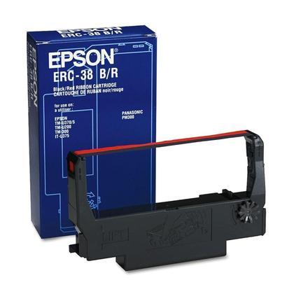 Epson ERC38BR ruban original noir sur rouge