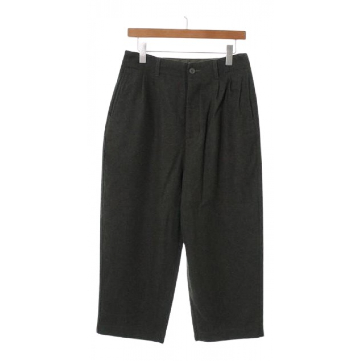 Comme Des Garcons N Green Wool Trousers for Women S International
