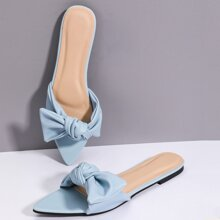 Knot Decor Slide Sandals