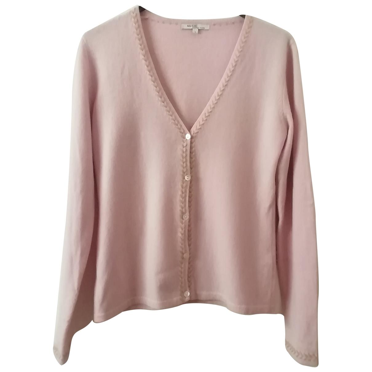 Allude \N Pullover in  Rosa Kaschmir