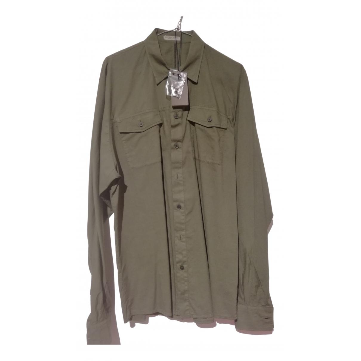 Bottega Veneta N Green Cotton Shirts for Men M International