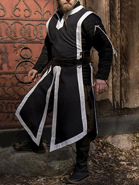 Yoins INCERUN Men Medieval Vintage Tunic Top Cosplay Costume Shirt