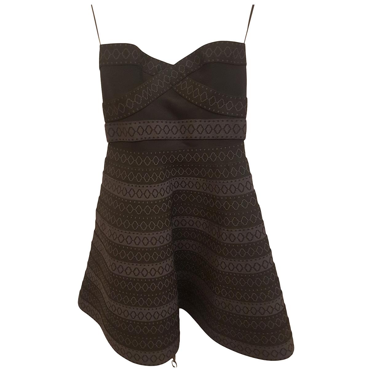 Maje - Robe   pour femme en coton - elasthane - gris