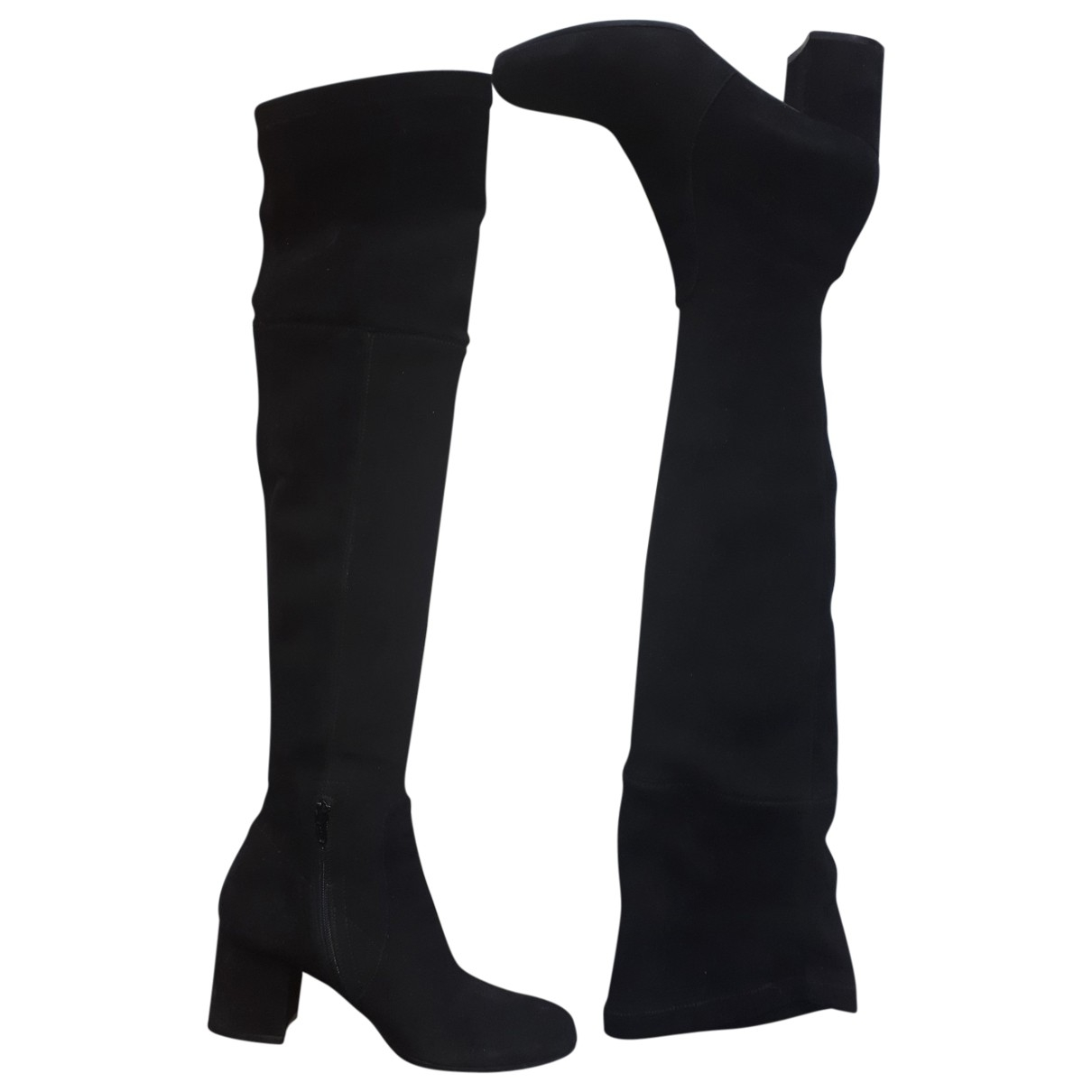 Notabene \N Black Suede Boots for Women 39 EU