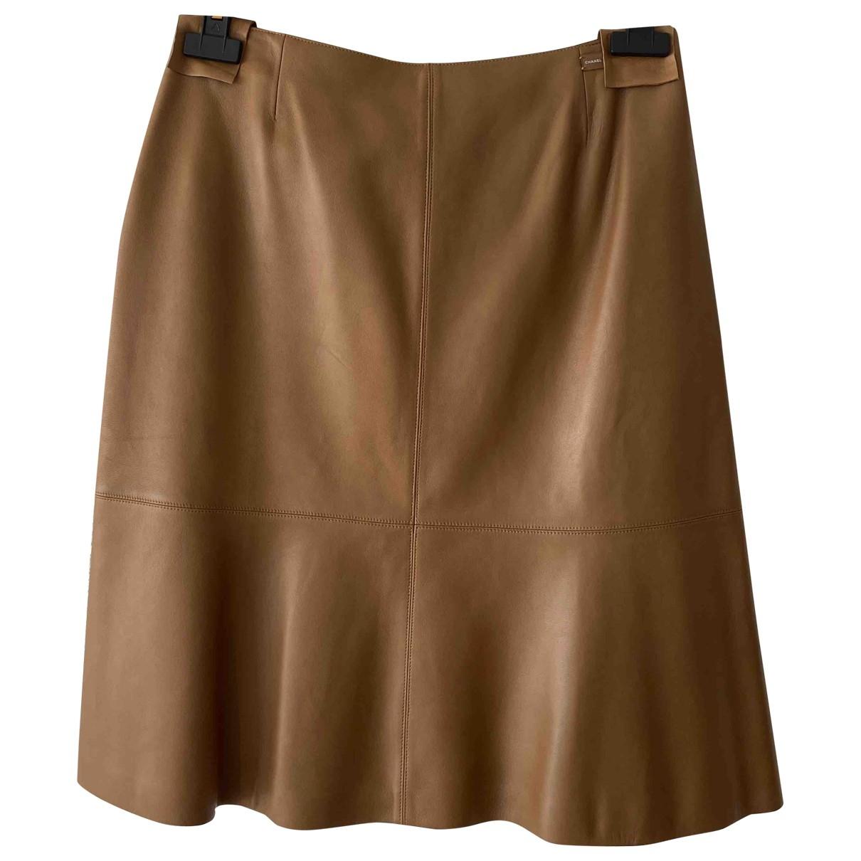 Chanel \N Camel Leather skirt for Women 40 FR