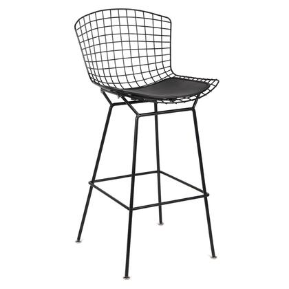 FMI10296-BLACK Fine Mod Imports Black Wire Counter Chair in Black