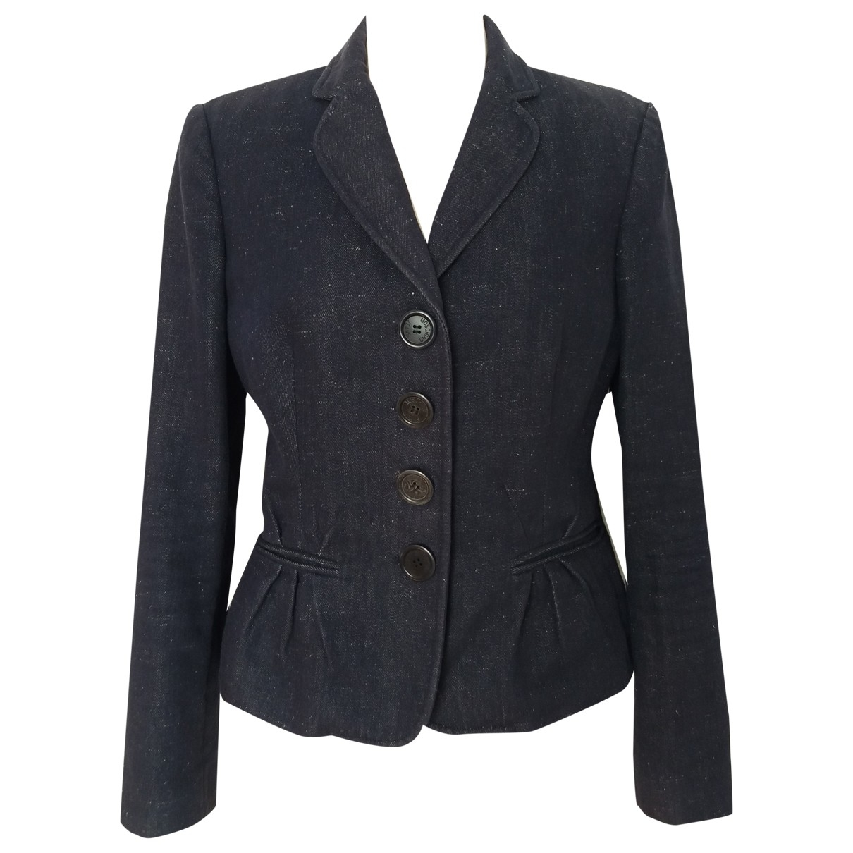 Moschino Cheap And Chic \N Jacke in  Marine Baumwolle