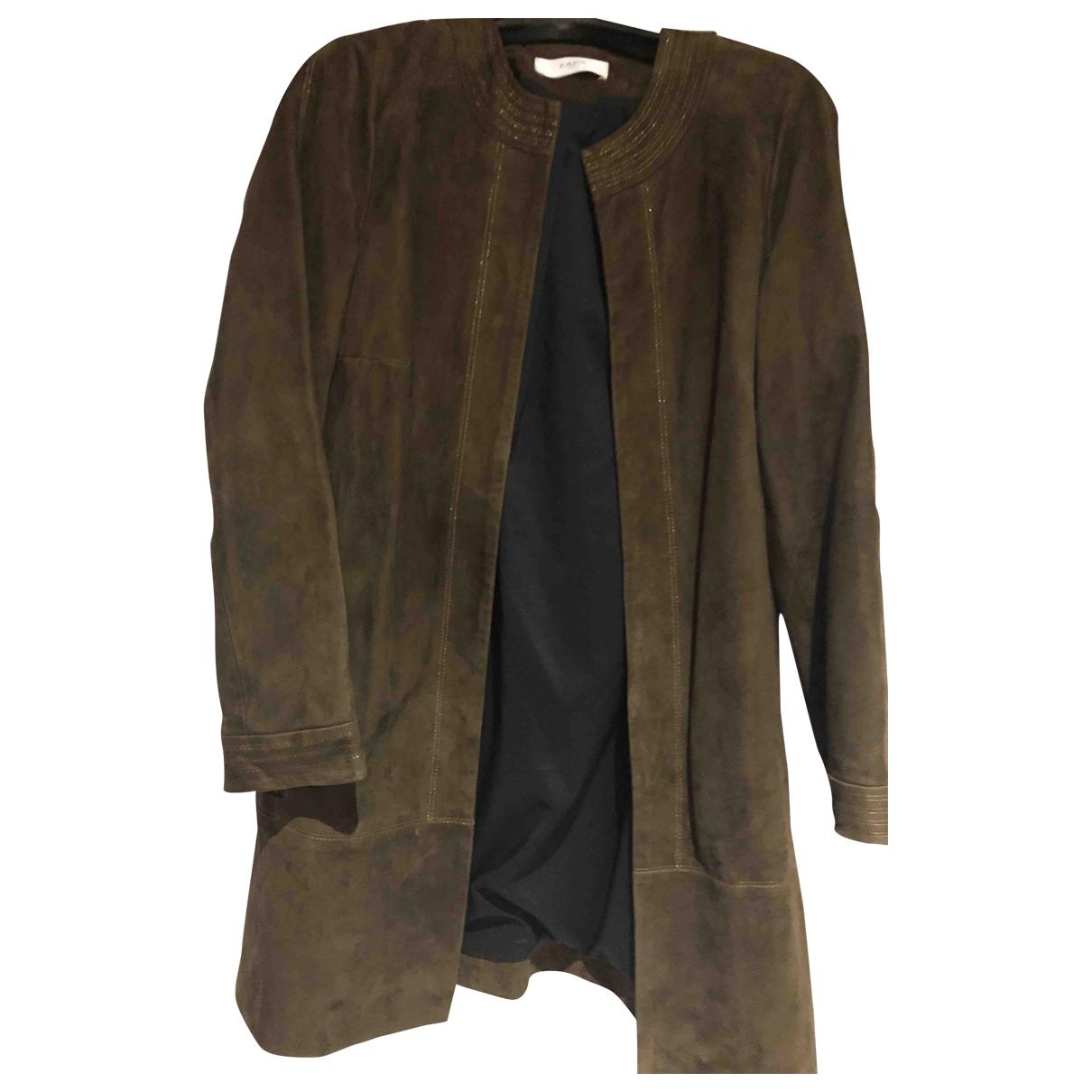 Zapa - Veste   pour femme en velours - marron