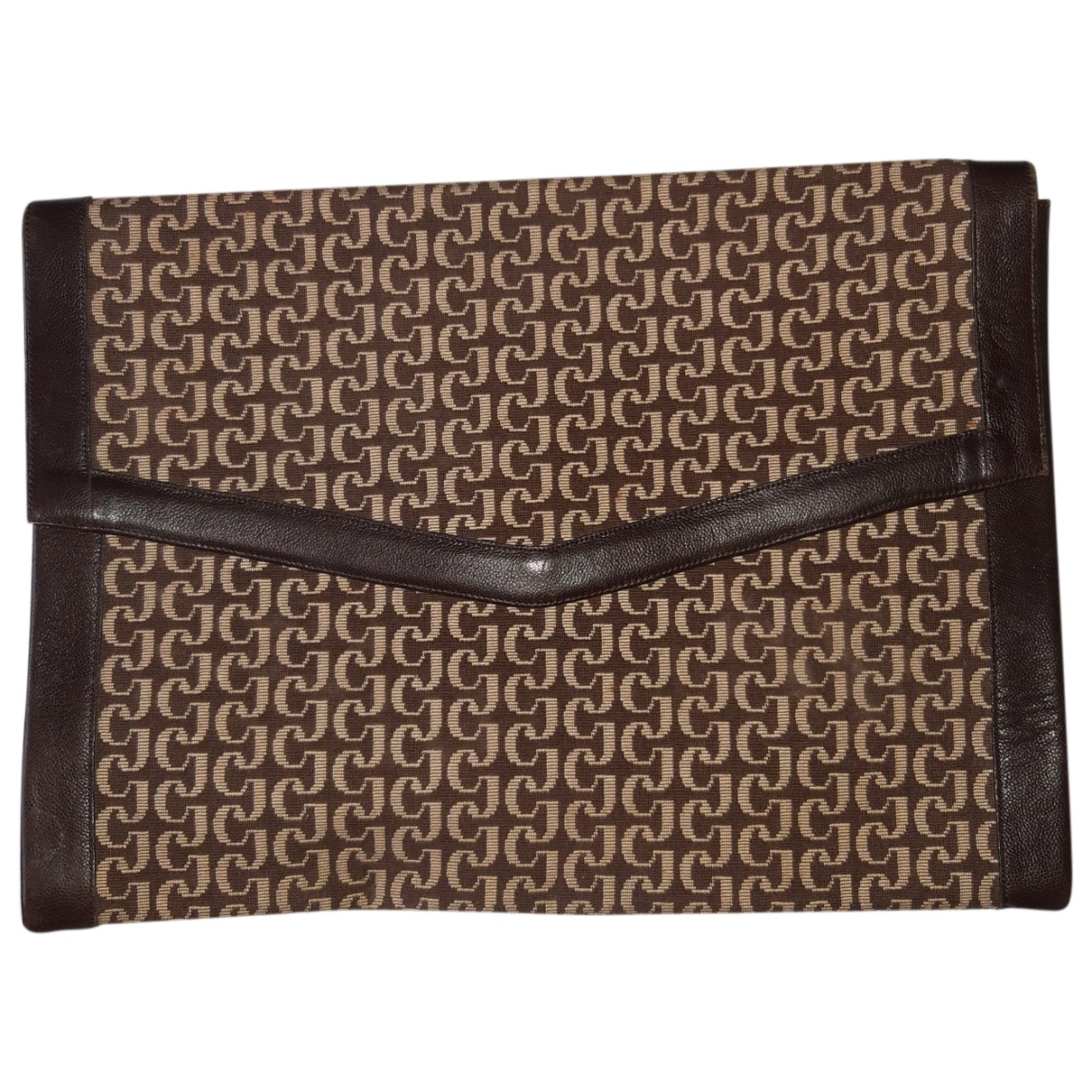 Charles Jourdan \N Clutch in  Braun Leinen