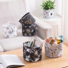 1 pieza cesta de almacenamiento con patron de estrella y marmol