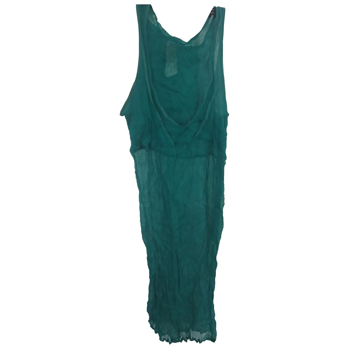 Max & Co \N Green Silk dress for Women 42 IT