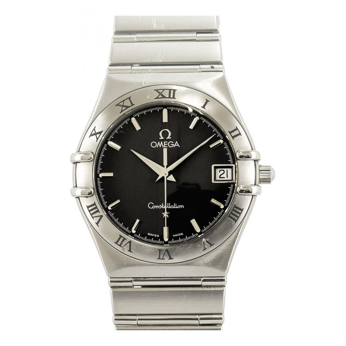 Omega Constellation Uhr in  Schwarz Stahl