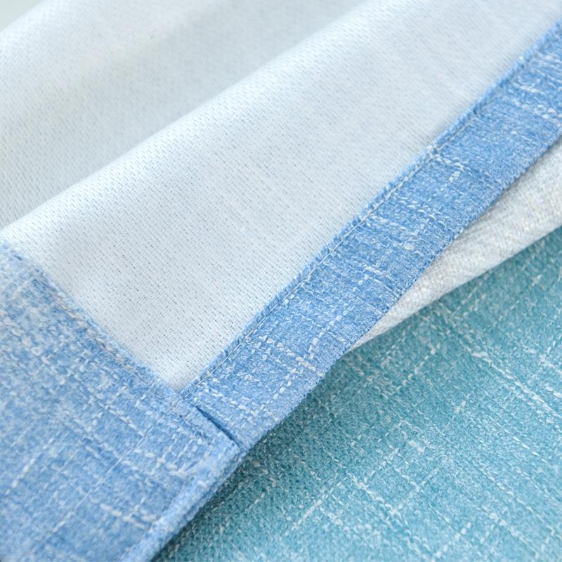 Simple Design Blackout Cotton Material Curtain Sets