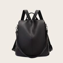 Minimalist Litchi Embossed Backpack