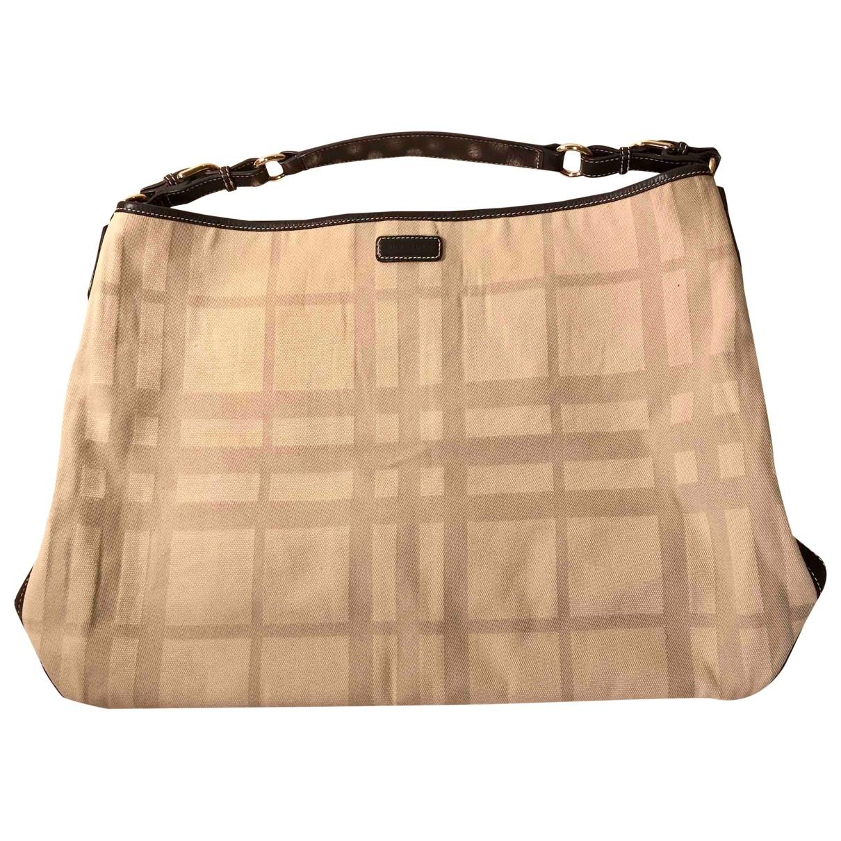 Burberry \N Beige Cotton handbag for Women \N