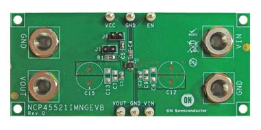 ON Semiconductor NCP45521IMNGEVB Integrated Load Switch with Ultra-Low Ron, 11.5A, Evaluation Board Load Switch for