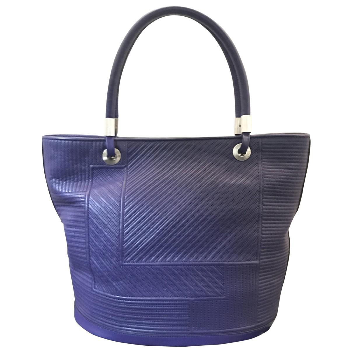 Lancel \N Handtasche in  Lila Leder