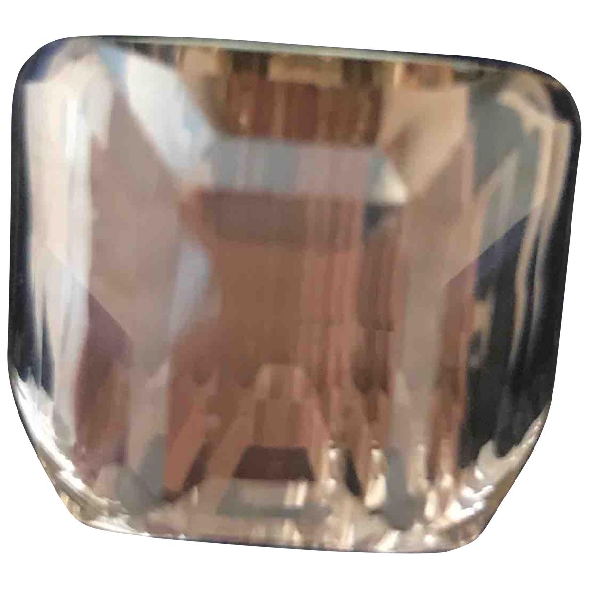 Swarovski \N Ring in  Beige Kristall