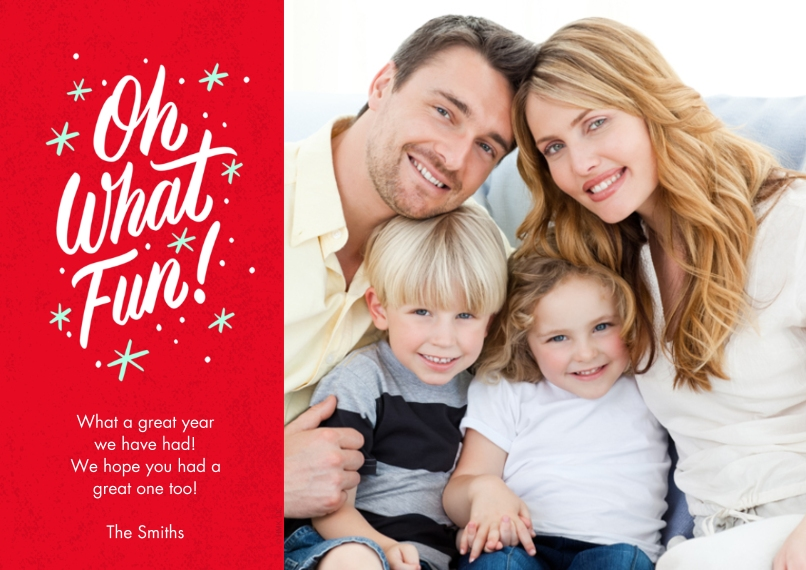 Christmas Photo Cards Flat Matte Photo Paper Cards with Envelopes, 5x7, Card & Stationery -Oh, What Fun! by Hallmark
