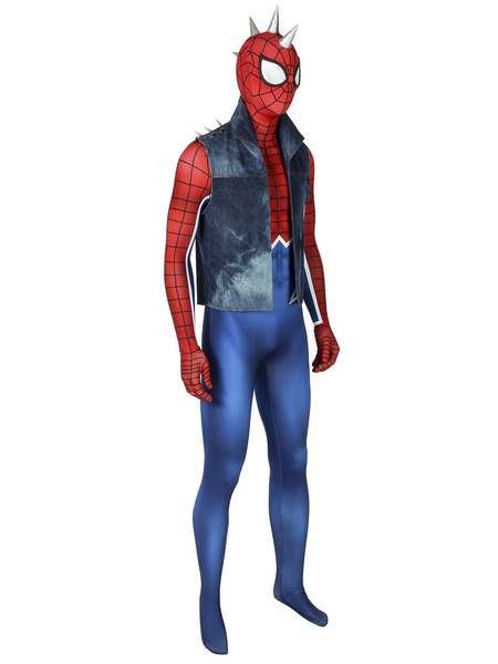 Milanoo Marvel Comics Spider Man PS4 Gamepunk Rock Spider Man PUNK ROCK SPIDER-MAN Halloween
