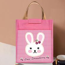Cartoon Rabbit Print Insulation Lunch Bag