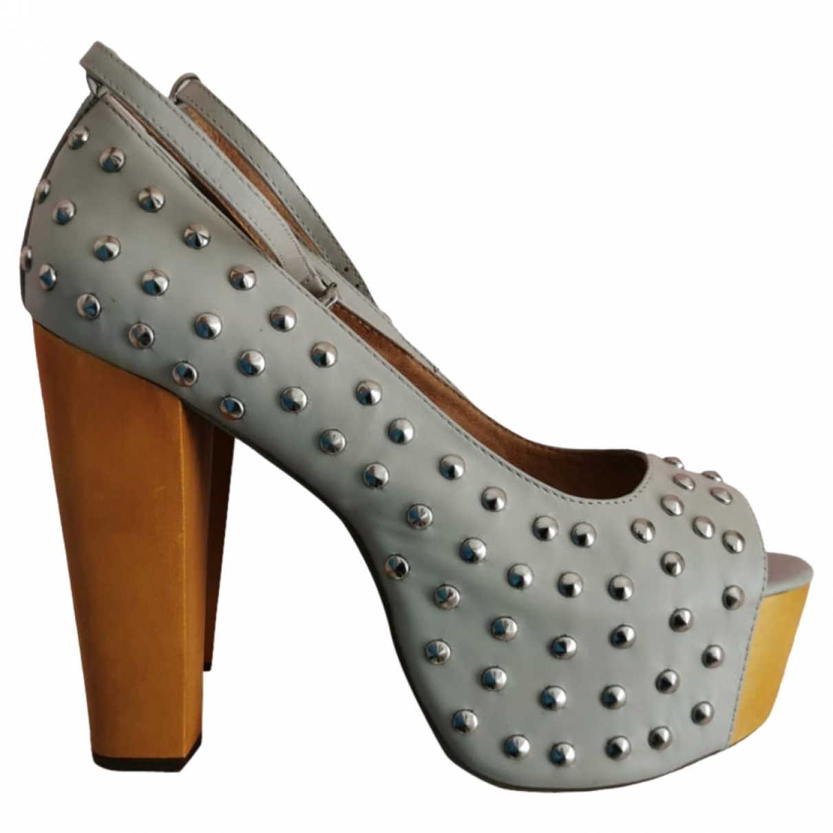 Jeffrey Campbell \N Grey Leather Heels for Women 40 IT