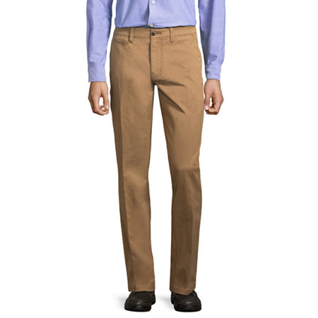 St. John's Bay Mens Slim Fit, 30 32, Brown