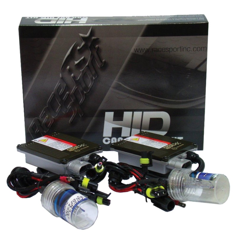 Race Sport Lighting H10-8K-G1-CANBUS-R H10 GEN1 8K Canbus HID Mid-Slim Ballast Kit with Relay Resistor Harness