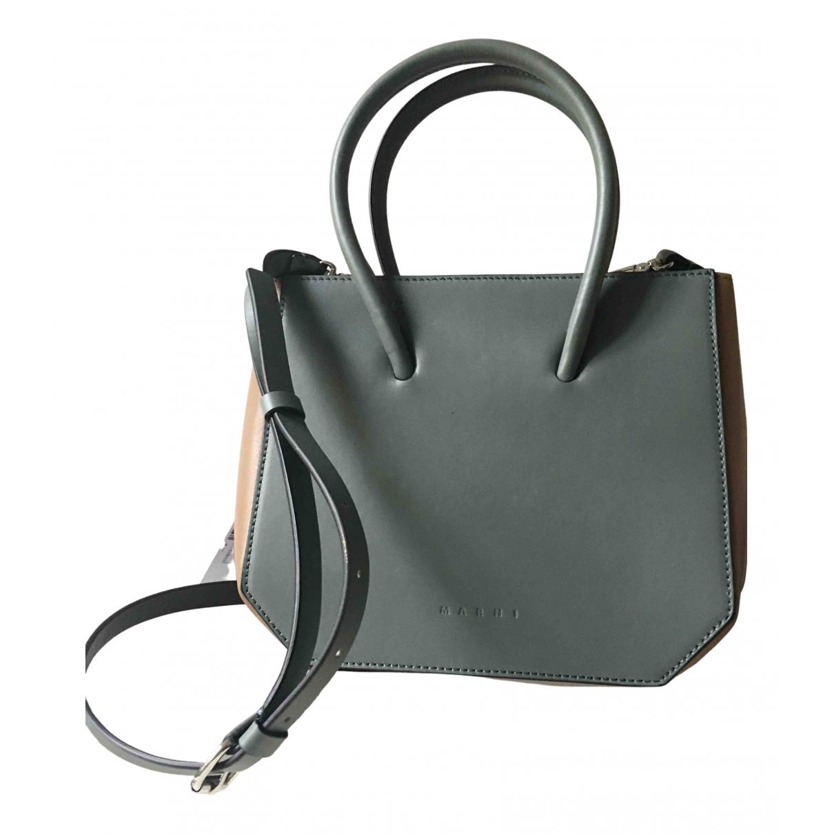 Marni \N Handtasche in  Blau Leder