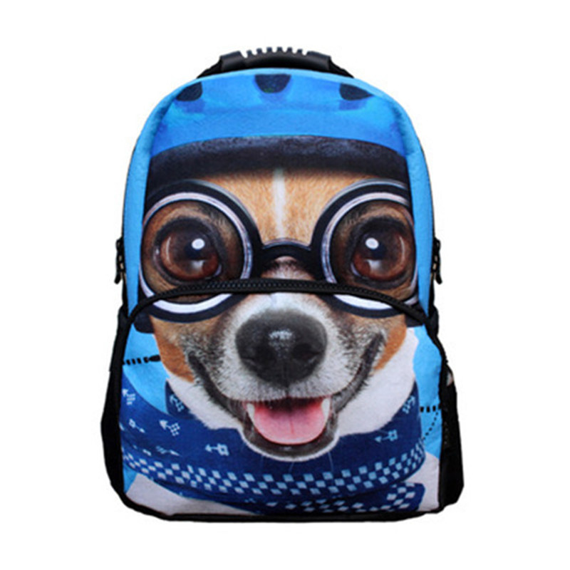 Outdoor 1.15L Cute 3D Puppy Durable 2 Layers Multi-functional Hiking and Traveling Daypack