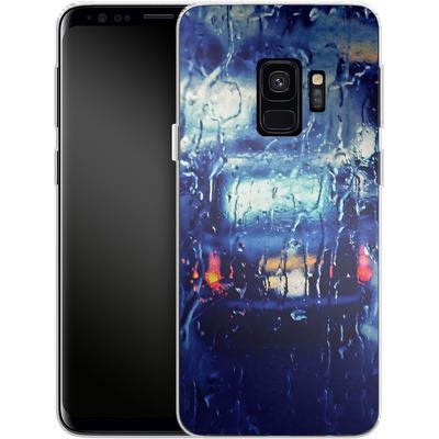 Samsung Galaxy S9 Silikon Handyhuelle - London Taxi In The Rain von Ronya Galka