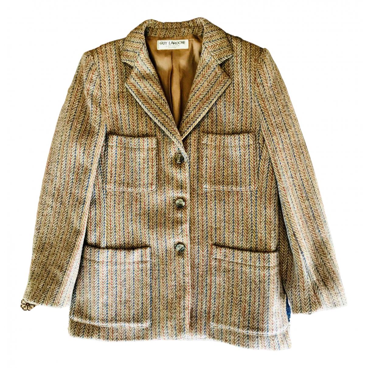 Guy Laroche N Brown Wool jacket for Women 38 FR