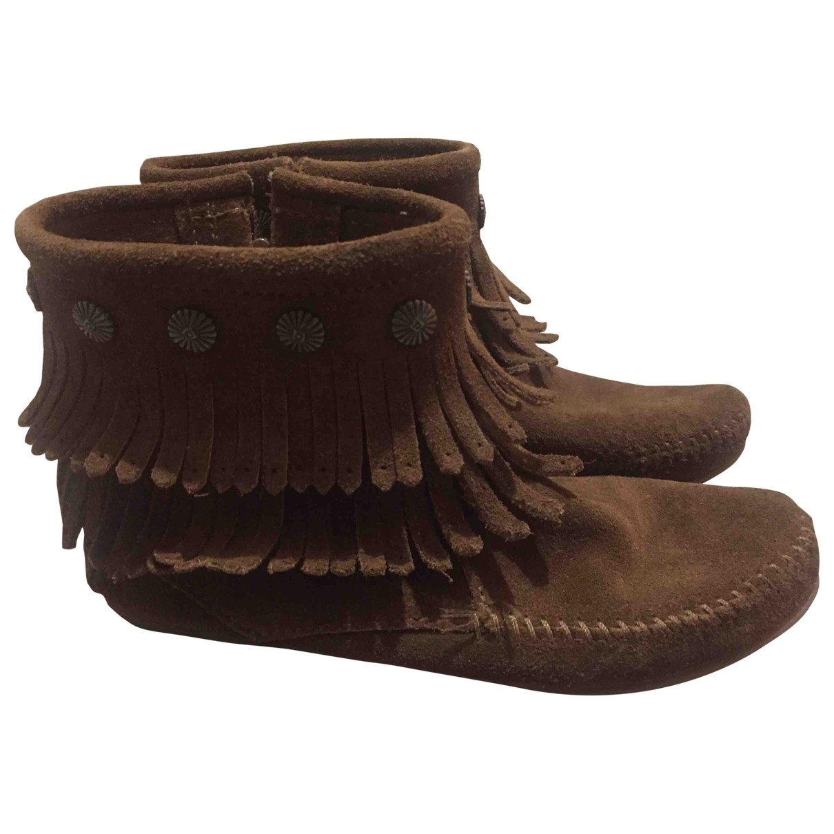 Minnetonka \N Brown Suede Boots for Women 6 US