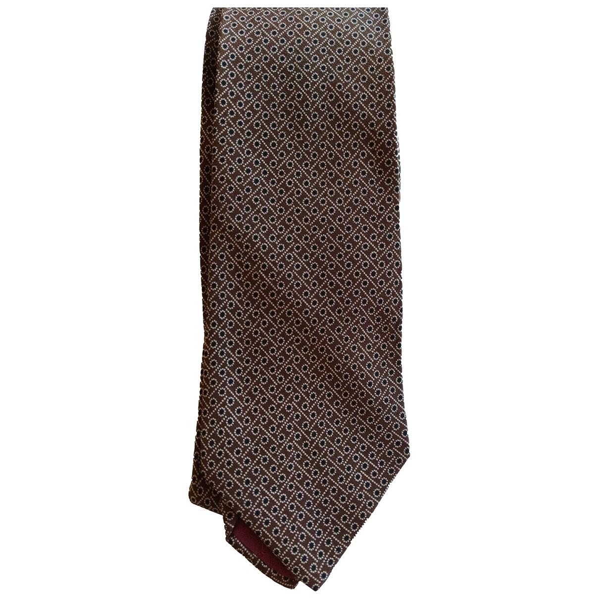 Yves Saint Laurent \N Krawatten in  Braun Seide